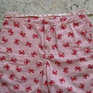 Vineyard Vines Shorts - Vineyard Vines Seersucker Crab Print Shorts Sz34